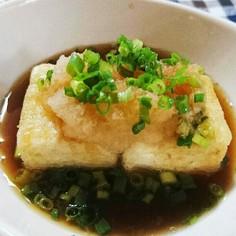 フライパンで簡単揚げ出し豆腐