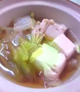 味付き簡単湯豆腐