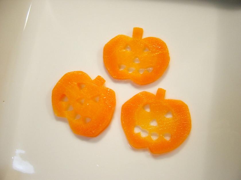 人参でハロウィンかぼちゃ