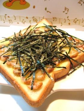 納豆チーズ海苔トースト
