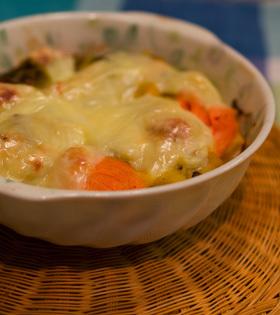 鮭&きのこグラタン☆かぼちゃソース♪