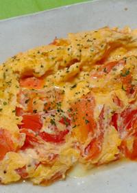 タマトマふんわりチーズオムレツ!