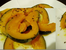 カボチャのオリーブオイル焼き