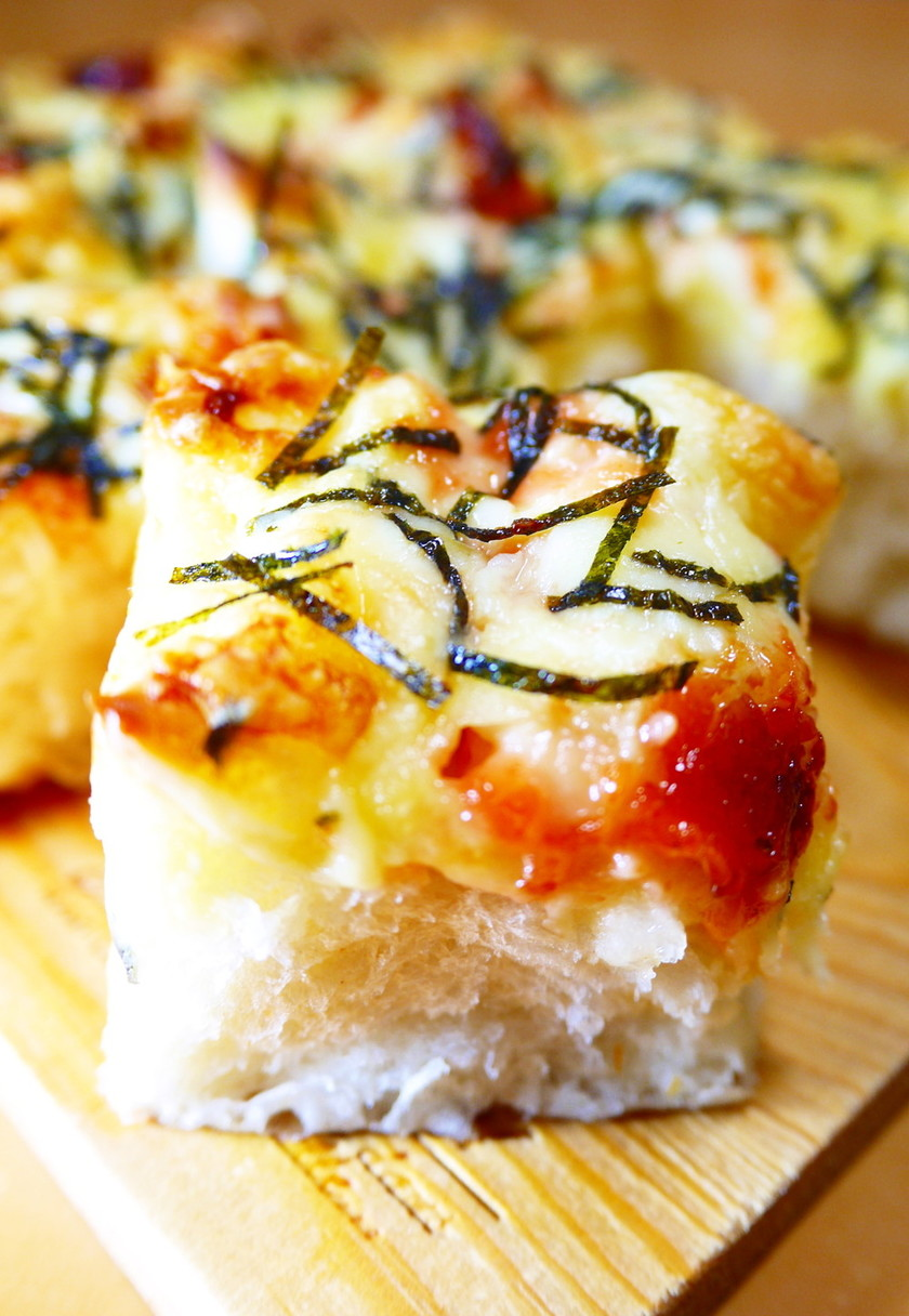 朝食ランチ♪HB明太マヨチーズちぎりパン