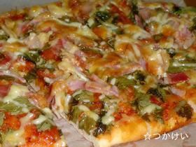 ベビーリーフのピザ
