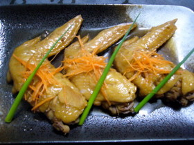手羽先の生姜醤油煮