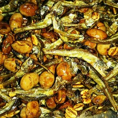 ヘルシー★小魚と炒り豆と押し麦の甘辛