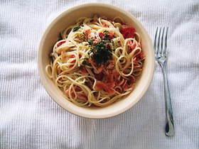 桜海老とトマトのパスタ