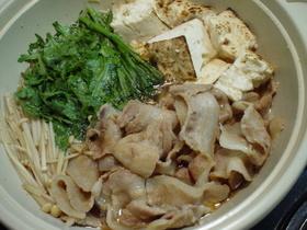 ☼豚バラ肉と焼き豆腐のすき煮