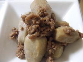 里芋と豚ひき肉の甘辛煮物☆