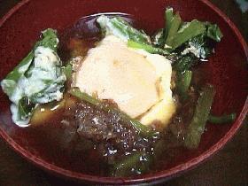 小松菜と卵の煮物
