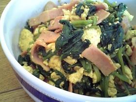 ◎豆腐&ほうれん草 カレー風味炒め◎
