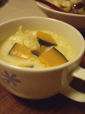 カボチャのミルキースープ