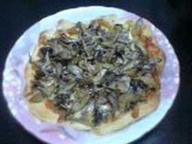 塩味☆キノコのピザ