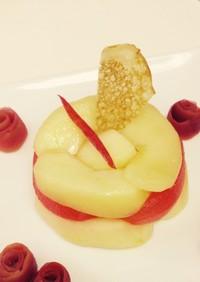 甘酸っぱいりんごのデザート