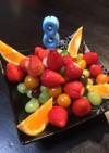 フルーツ盛り!お誕生日ケーキの代わりに。