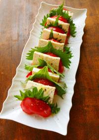 豆腐とトマトの和風カプレーゼ