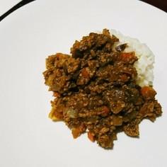 ナスとひき肉のキーマカレー