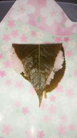 レンジでもち米桜餅!