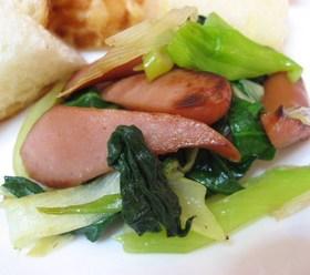 ウインナーと野菜のクレソル炒め
