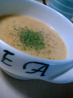 人参の皮でポタージュスープ