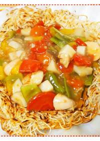 素麵のあんかけバリソバ☆簡単ランチ・夕食