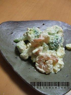 アボカドと海老とブロッコリーのサラダ