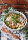 サラダチキンと納豆のヘルシー丼