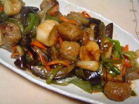 肉団子(鶏)と野菜の和風炒め☆あんかけ風