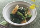 小松菜と油揚げのしらす和え