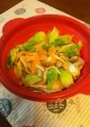 超簡単つぼみ菜の豚しゃぶ蒸し