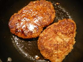切干大根入り鶏肉バーグ
