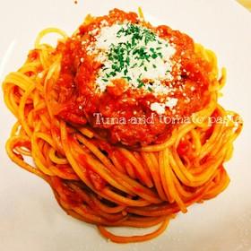 簡単♡節約!ツナとトマトのパスタ