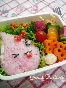 うるおいちゃんのお弁当(キャラ弁)