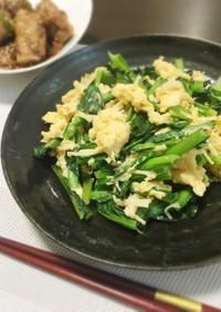 ホタテ缶入り♪小松菜と卵の炒め物