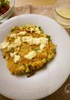 ひよこ豆で作る、野菜「オムレツ」