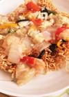 手製揚げ麺の八宝菜