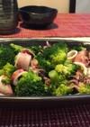 ブロッコリーとイカの中華炒め