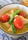 カジキとトマトのグリーンカレー煮