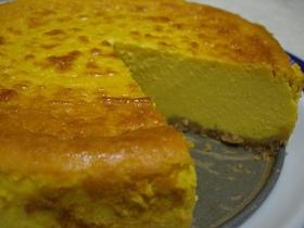 ミキサーでしっとりかぼちゃのチーズケーキ