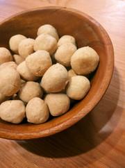 きな粉とココナッツオイルボールクッキーの写真