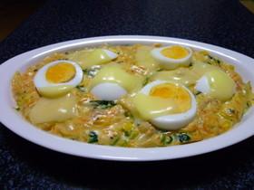 ツナと卵のチーズグラタン!(^^)!