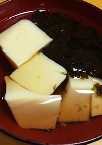 玉子豆腐と海苔のすまし汁