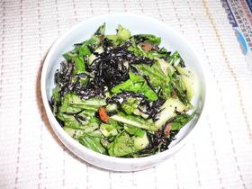 チンゲンサイ&ひじきの煮物