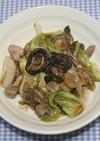 乾燥きのこと春野菜のオイスターソース炒め