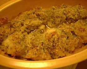 鶏肉の香草パン粉焼