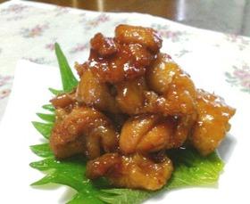 鶏皮甘辛味噌煮
