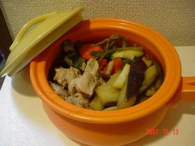 余り野菜でめんつゆ煮