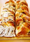 スクエア型で作る★黒糖きな粉あん食パン