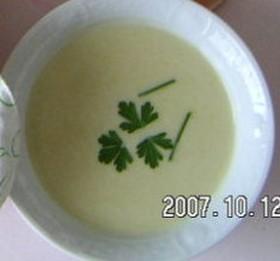 シンプルな豆乳のスープ